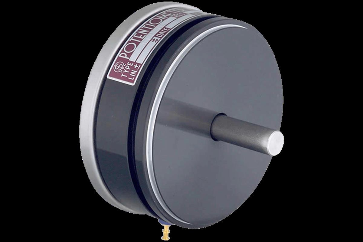 FCP50A - <li>přesný snímač úhlu</li> <li>plastový odporový element s vysokým rozlišením</li> <li>duralové, eloxované pouzdro <br> Ø 50,8mm</li> <li>nerezová hřídel Ø 6mm, v kuličkových ložiskách</li> <li>hodnoty odporu: 1k, 2k, 5k, 10k</li> <li>vysoká životnost</li>