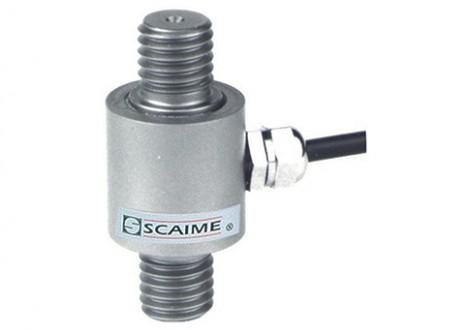 K100 - je malý a lehký válcovitý tenzometrický snímač nerezové konstrukce s hliníkovým krytem, s krytím IP65 a dvěma vnějšími závity. Je určen k měření tahových sil v rozsazích od 0-1kN do 0-100kN. Napájení a výstupní signál jsou vyvedeny stíněným kabelem o délce 3m.