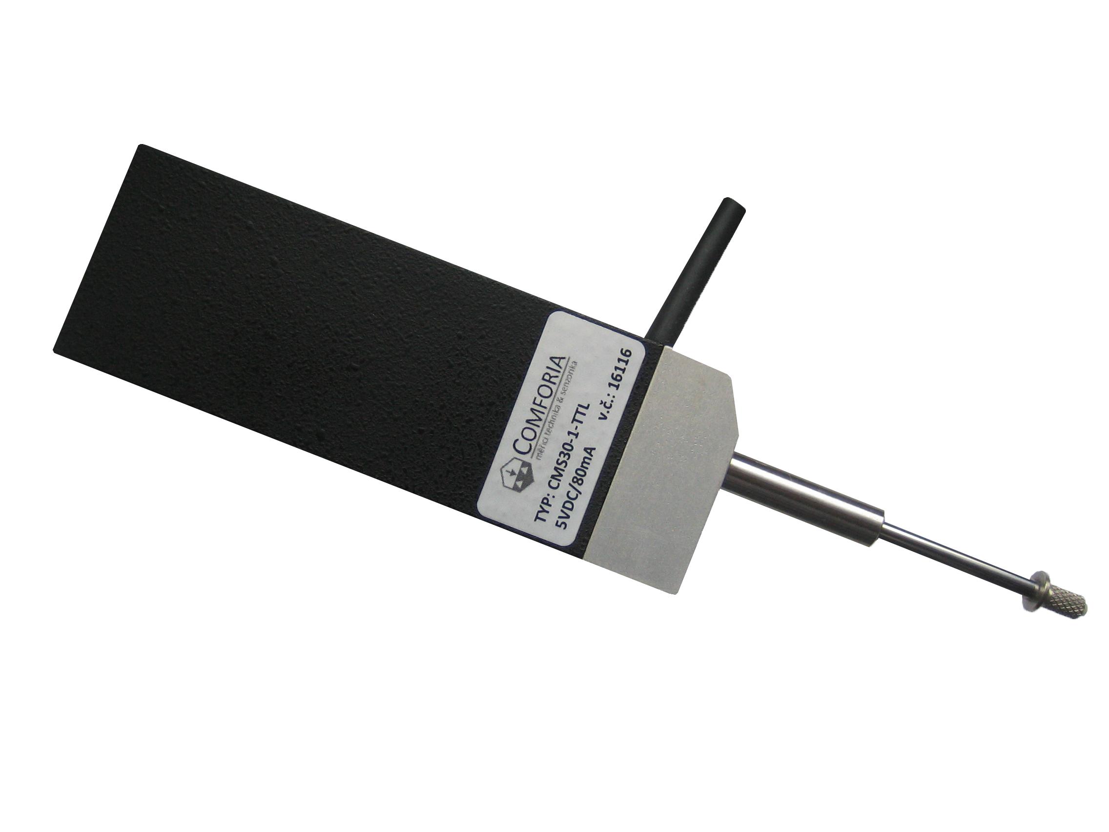 CMS12 - <li>inkrementální měřicí sonda pro přesné odměřování</li> <li>rozsah 12 mm s přesností ±1 µm</li> <li>precizní lineární kuličkové ložisko</li> <li>odpružený měřicí hrot</li> <li>rozlišení 10, 5, 2, 1, 0.5, 0.2 nebo 0.1 µm</li> <li>krytí IP40</li>