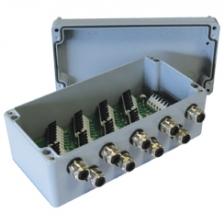 DLCJB-A - <li>sdružovací box pro max. 10 digitálních tenzometrických snímačů s RS485</li> <li>lakované hliníkové pouzdro s krytím IP65</li> <li>připojení vodičů pomocí pérových svorek</li>